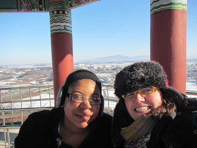 Me and Nicole at the top