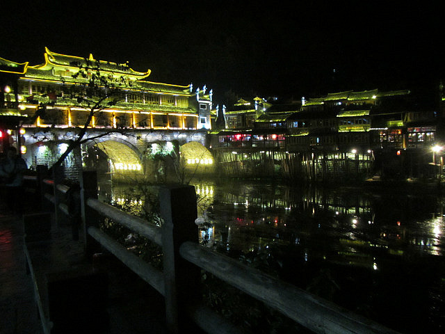 Fenghuang at night