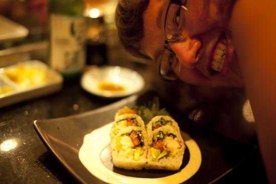 Sushi vs. me!