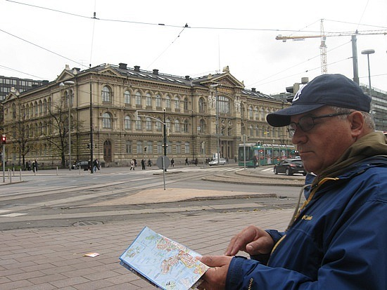 Dad with map