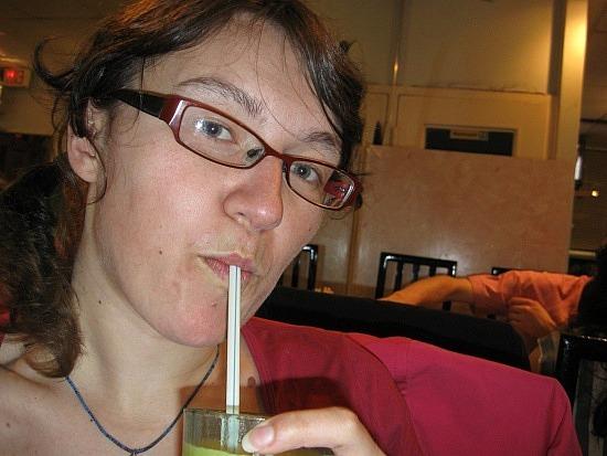 Me vs. jackfruit milkshake