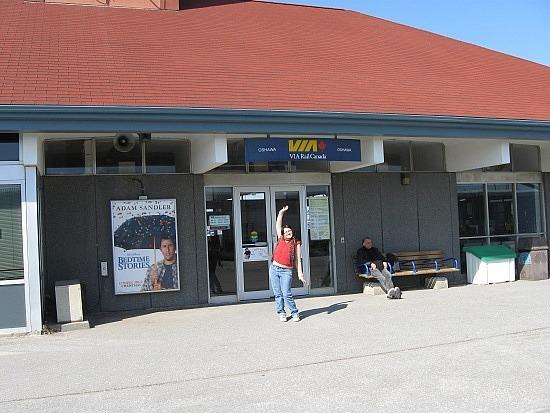 Me at Oshawa Go-Train station