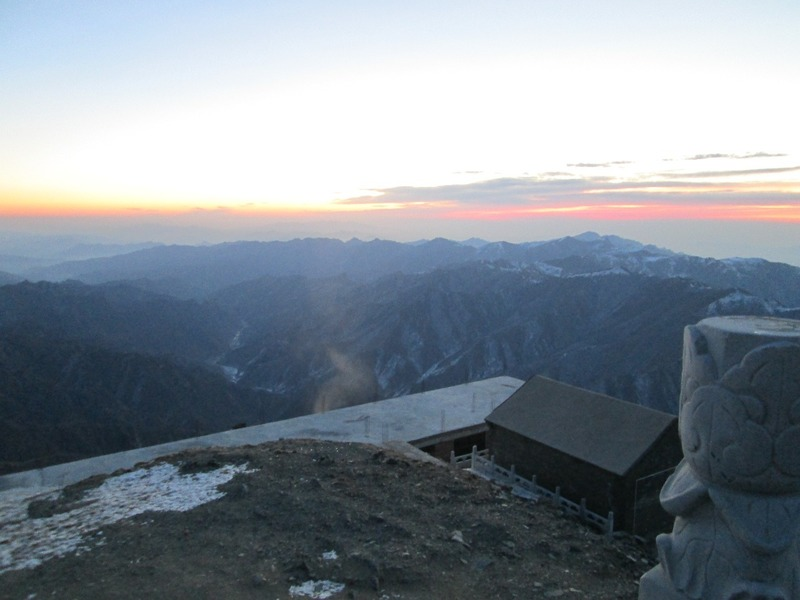 Sunrise on Wutai Shan