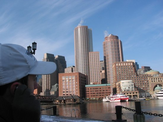 Boston from the harbour