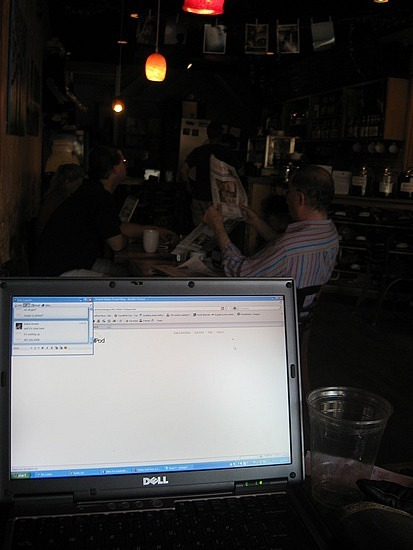 Phoenix Cafe and my laptop