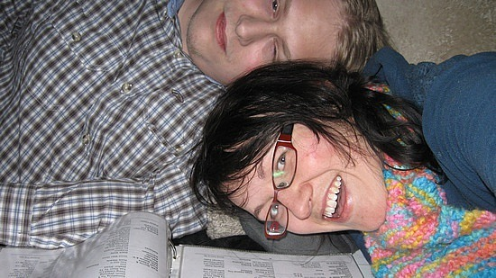 Dave and me at karaoke