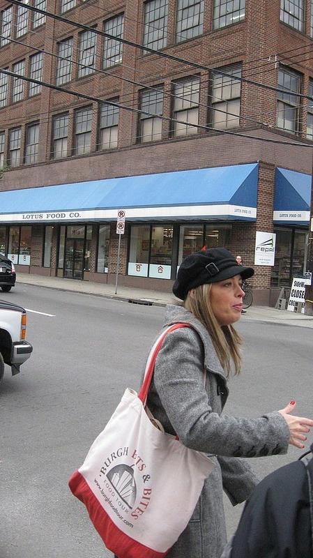 Sylvia, our Strip District Tour Guide