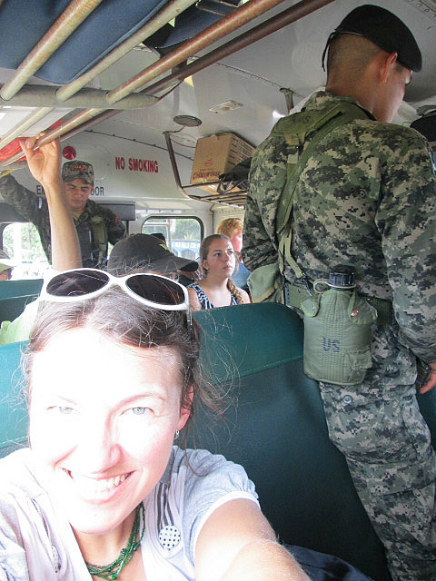 Soldiers on the bus