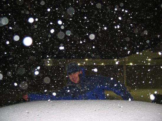Chris in snow