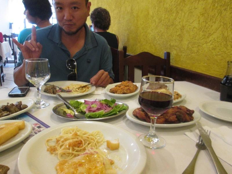 Italian food in Santa Felicidade
