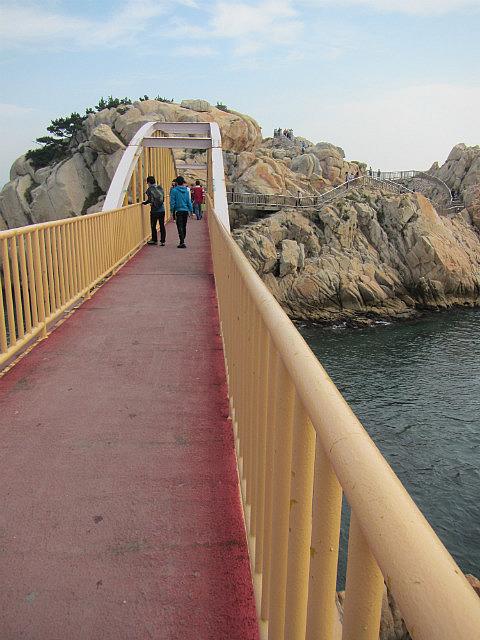 The bridge to the rock