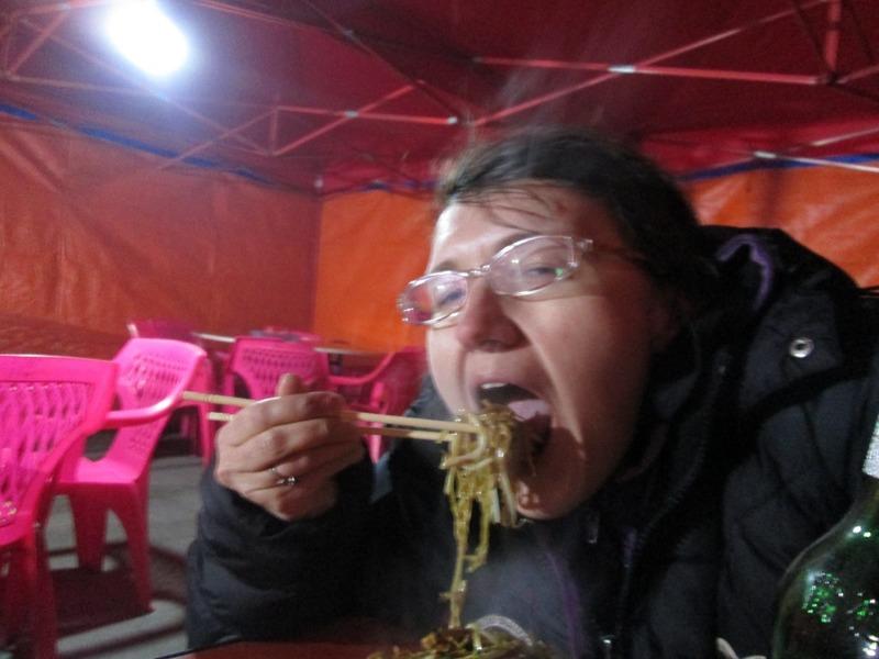 Me vs. noodles