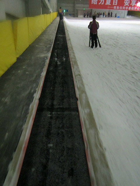 This is the escalator up the hill