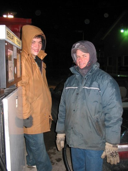 Two guys at the gas station