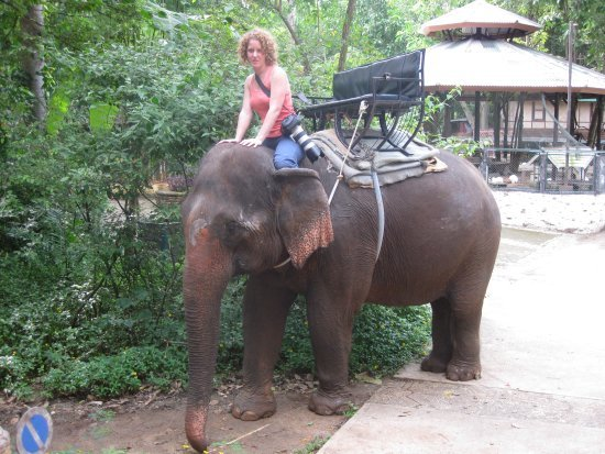 Naomi on an elephant