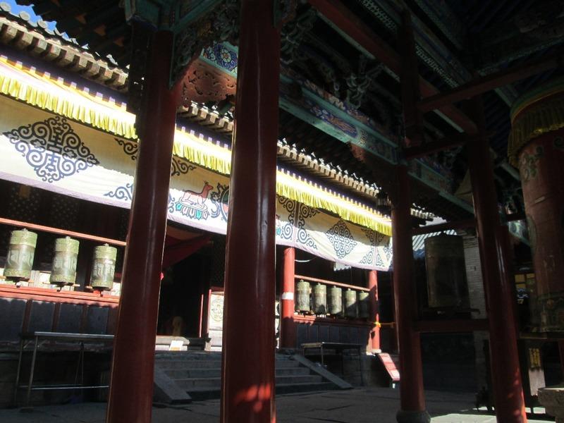 Wutai Shan temple prayer wheels