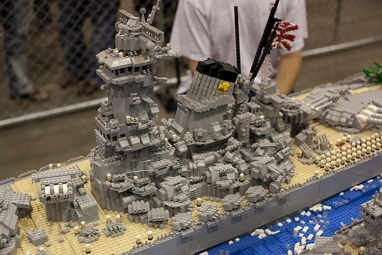 A sunken Lego ship?