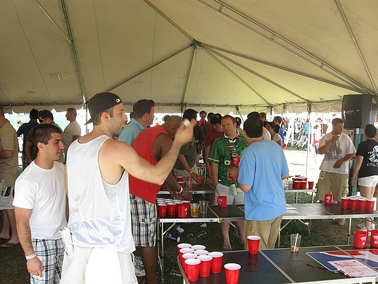 Organized beer pong