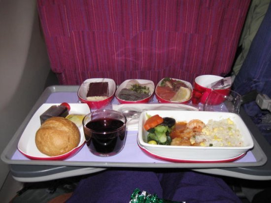 Thai Air meal, delicious