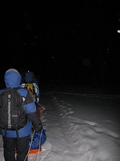 Into the dark, cold night