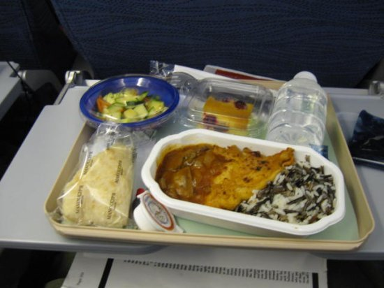 Food on flight to Tokyo