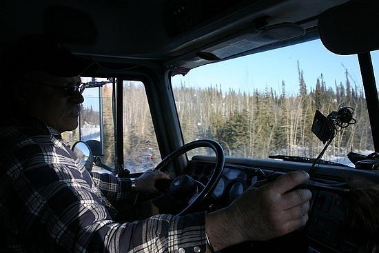 Bill dusting the truck