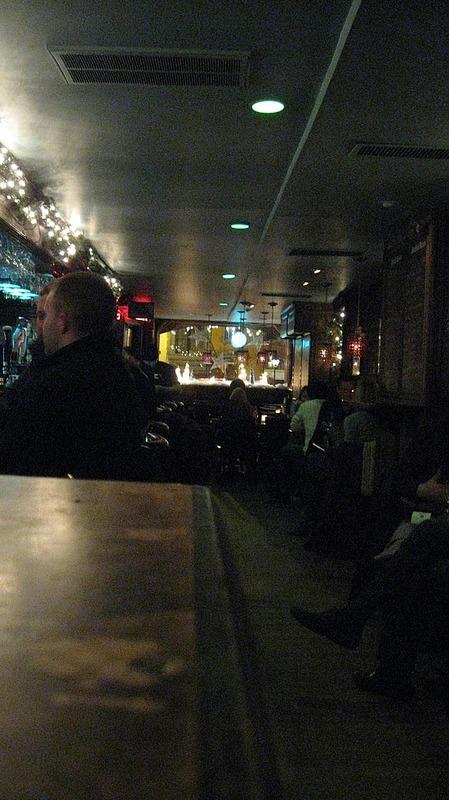 Inside jazz bar