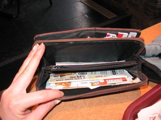 Empty wallet...