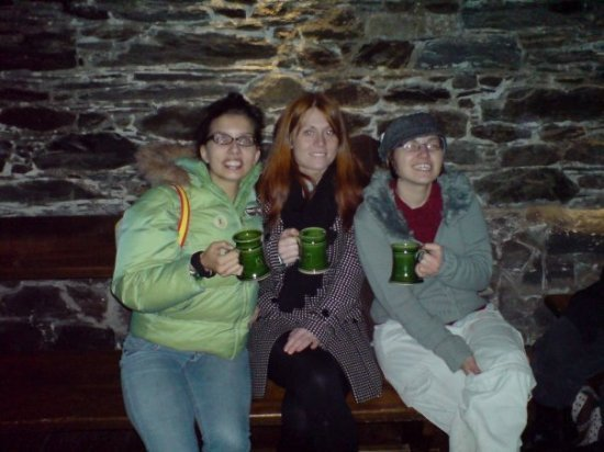 Three girls at a brewery