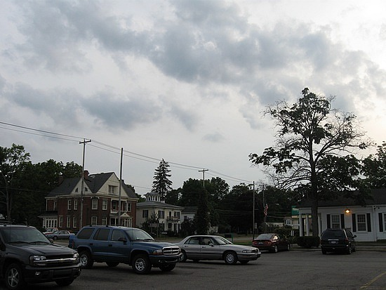 A typical street in Galesburg, Michigan