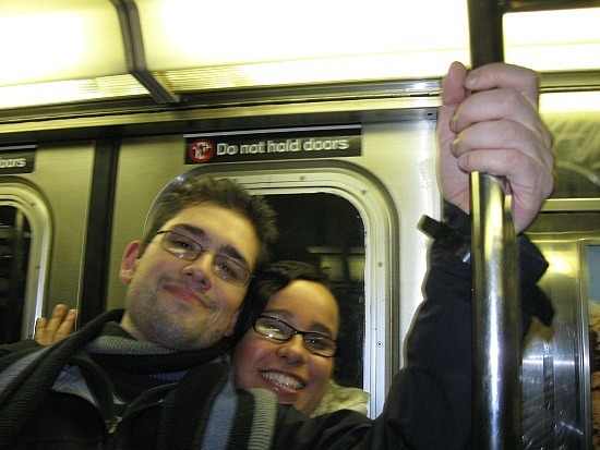 Mike and Teresa on the subway
