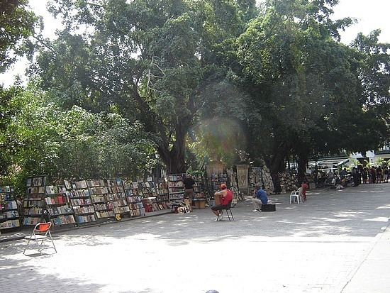 Used books at Plaza De Armas