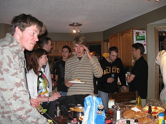 Party in the Calgary 'burbs