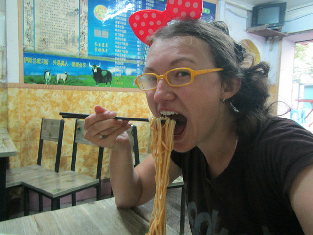 We had some noodles