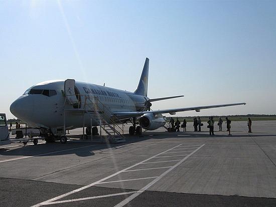 Canadian North plane in Ottawa