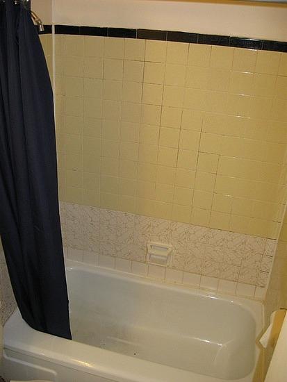 The mouldy bathroom