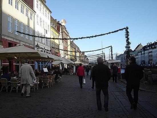 The restaurant street
