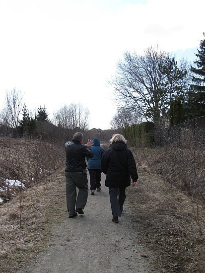 Walking down the trail