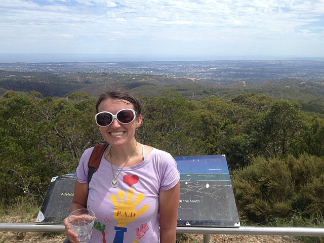 On top of Mt. Lofty