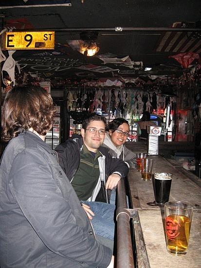 Keith, Mike, Teresa at Coyote Ugly
