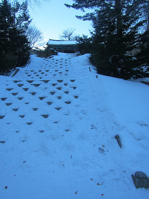 Steps to Baengyeonsa Temple
