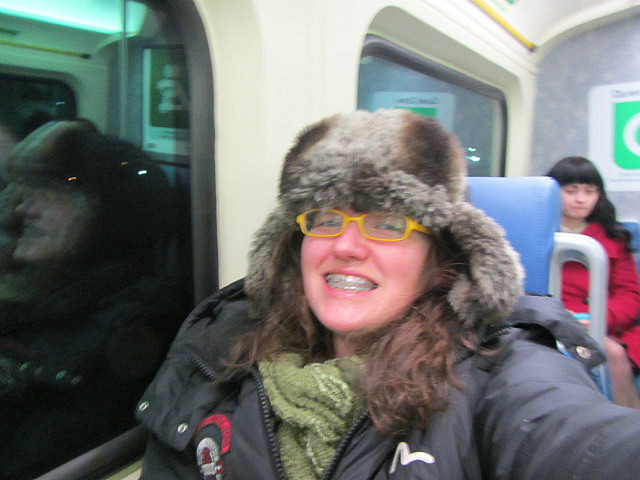 Me on the train