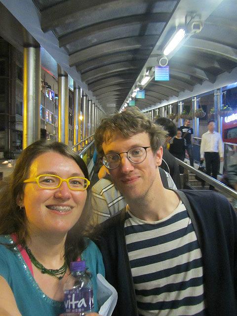 Me and Stuart on the escalator