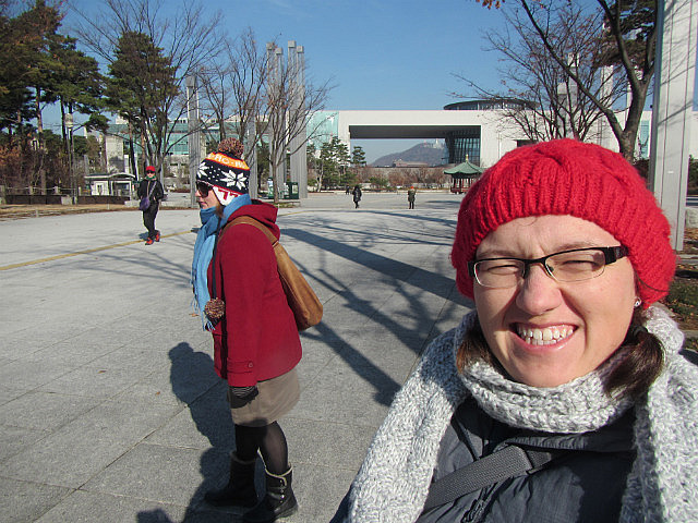 Still cold, into the National Museum of Korea