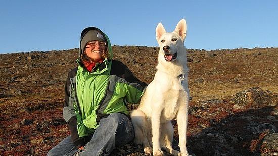 Me and Siku on a rock