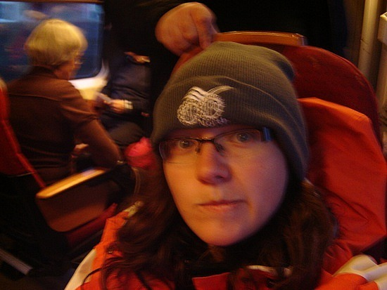 Me on train to Trondheim