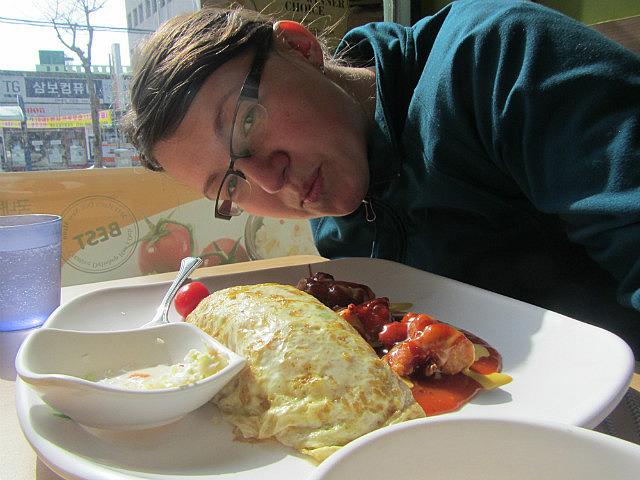 Gross omelette at Han's Deli