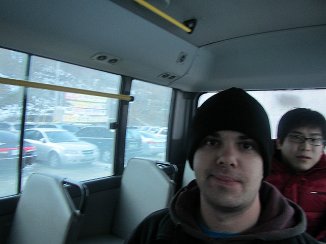 Dave on the chicken bus