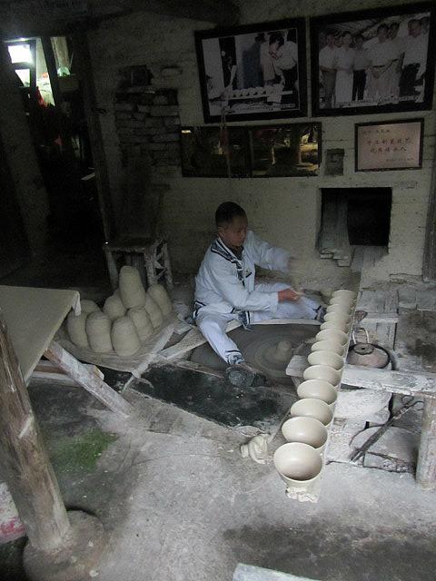 Guy making bowls
