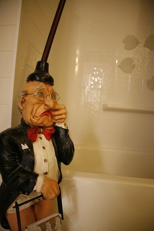 Man in the bathroom